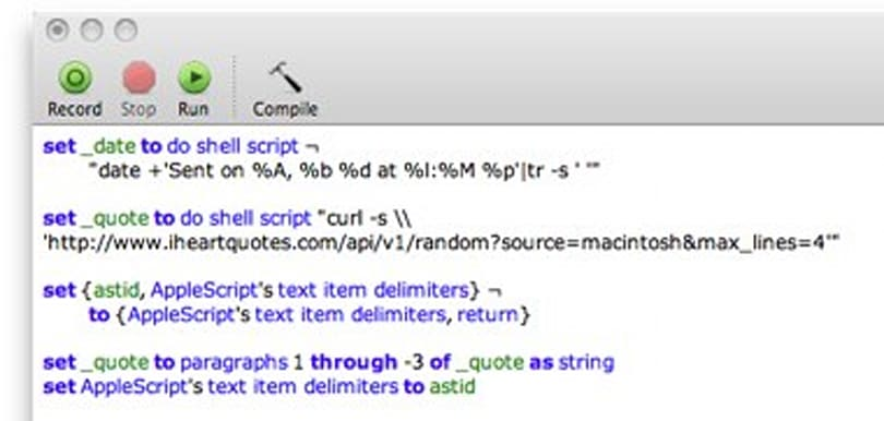 Revisiting the randomized signature AppleScript, now with API goodness