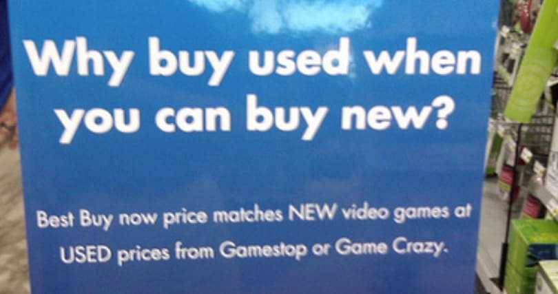 Best Buy testing price matching of used games