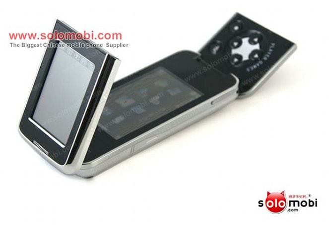 """Cool8800C handset says KIRF on the outside, """"Player Games"""" on the inside"""