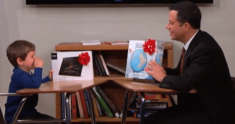 Jimmy Kimmel gives a 5-year-old a Sony tablet and the result is adorable
