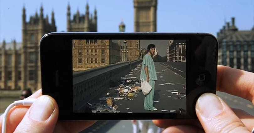 Augmented reality app concept conjures movie scenes shot in your location (video)