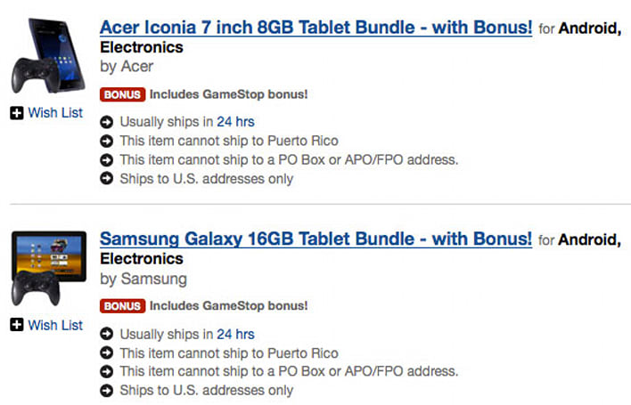 GameStop's Android gaming tablets get official at 200 stores in soft launch