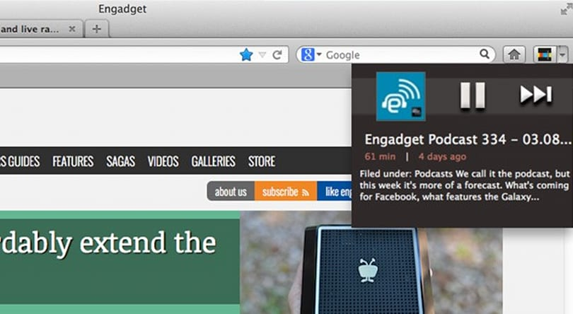Stitcher browser plugins for Chrome and Firefox now available