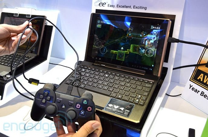 Eee Pad Transformer caught playing nice with PS3 controller (update: hands-on video)