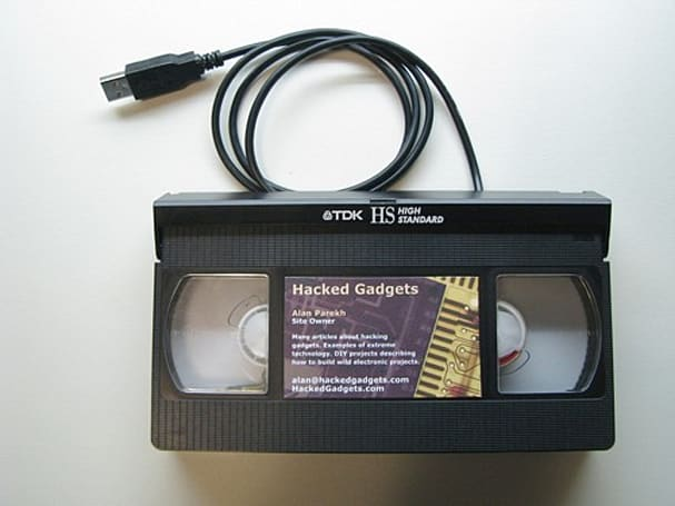 VHS casette hacked into USB drive? Yes, please