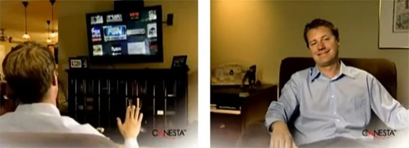Canesta gesture controlled TV frees us from the tyranny of the remote
