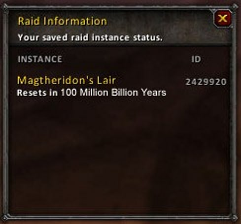 Raid reset timers are wrong