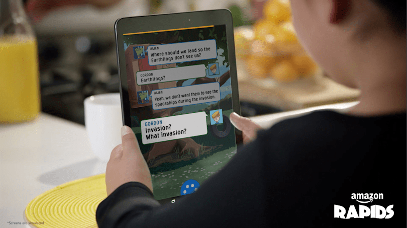Amazon's new reading app for kids combines humor and text messages