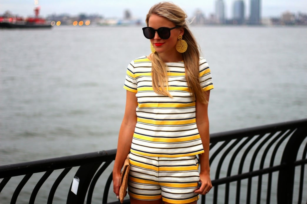 Cute outfit idea: Striped separates