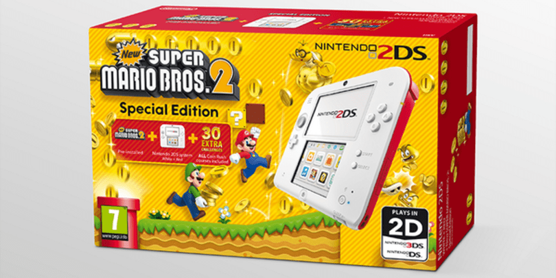 2DS digs for euros with New Super Mario Bros 2. bundle