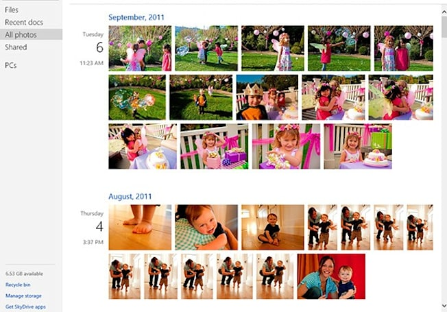 SkyDrive update brings photo timeline, more efficiency-minded features