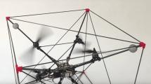 Kubische Robo-Weberknechte schweben durch die Flying Machine Arena
