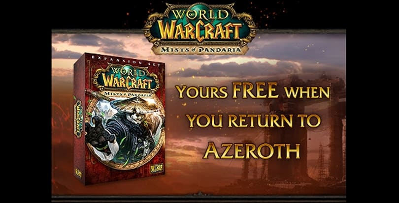 Blizzard offering Mists of Pandaria free to lapsed subscribers