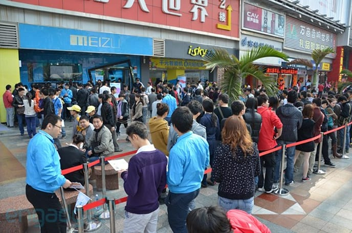 Meizu MX launches today, lines dotted all over China as usual (updated)