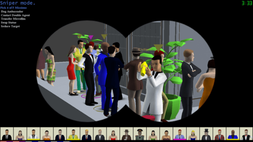 SpyParty selected as the Indie Showcase title for EVO 2012