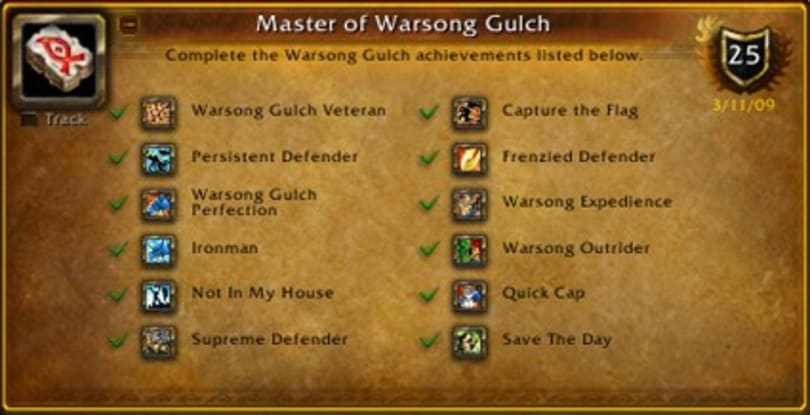 The OverAchiever: Master of Warsong Gulch