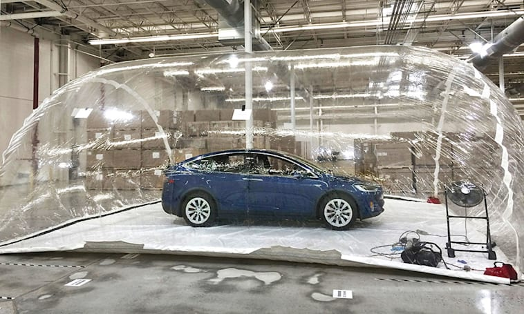Tesla puts its extreme air pollution filter to the test