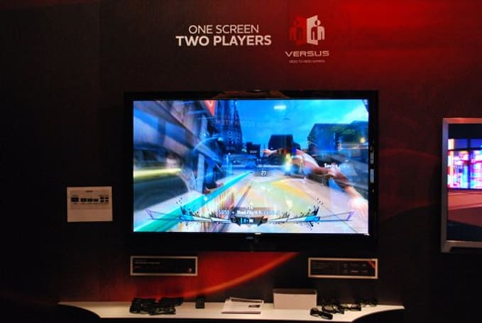 Vizio 'Versus' offers two-player head-to-head gaming on one screen (video inside!)