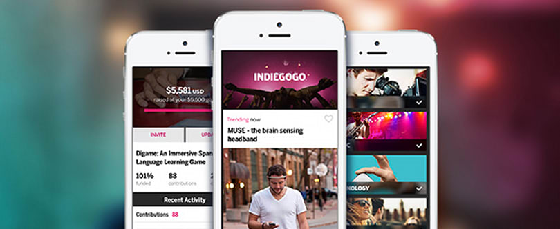Indiegogo has a new iOS app for mobile crowdfunding
