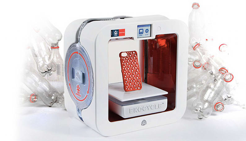 The Ekocycle Cube 3D-prints recycled plastic, is backed by will.i.am