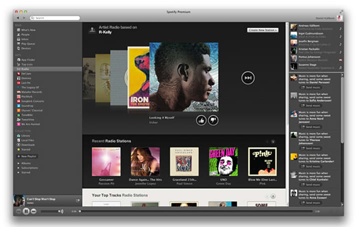 Spotify Radio gets thumbs up, thumbs down on desktop