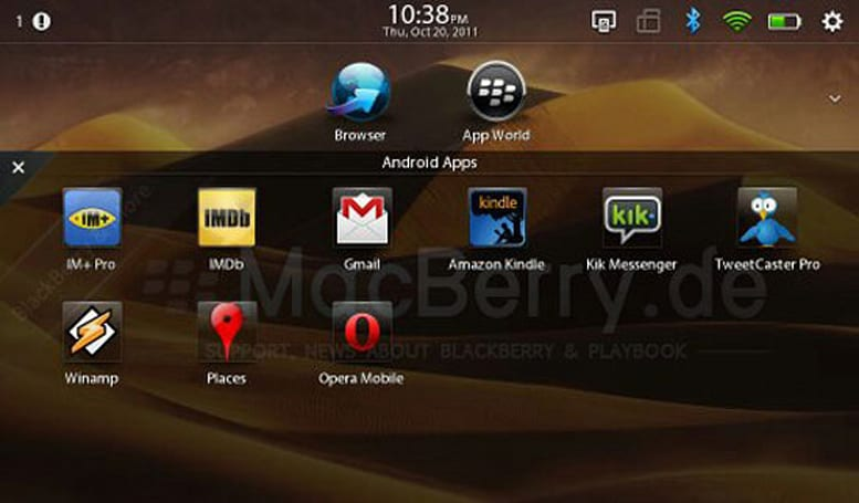 BlackBerry Playbook 2.0 developer beta previewed, Android apps look right at home (video)
