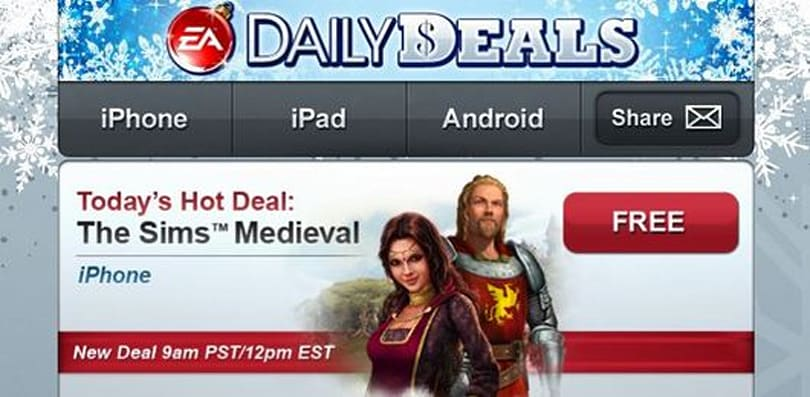 EA's mobile Daily Deals, 'cause mom will probably get you socks again
