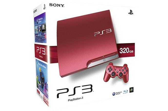 Red 320GB PS3 takes a trip to the UK