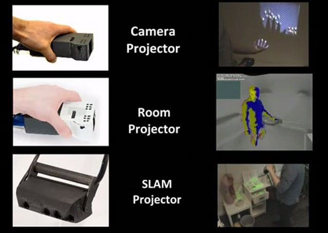 Trio of Microsoft projectors lets you get quasi-physical with AR interaction (video)