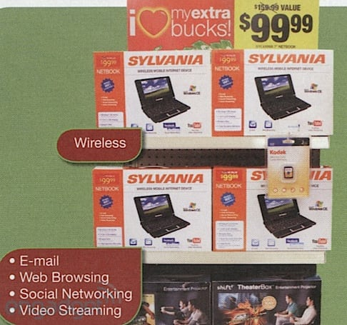 CVS to sell $100 Sylvania netbook and $179 e-reader this fall, Tylenol not included