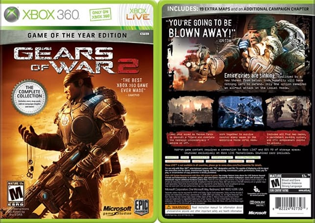 Retailers list Gears of War 2: Game of the Year Edition [update]