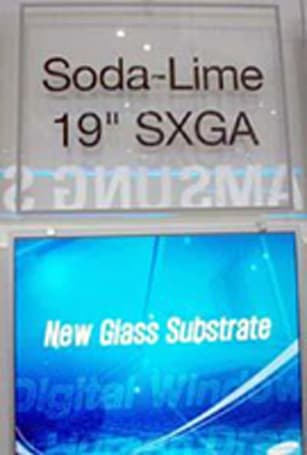 Samsung shows off 19-inch Soda-Lime panel