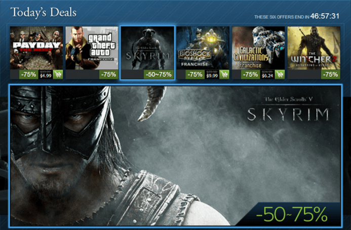 Steam Holiday Sale, day 10: Skyrim, BioShock, Grand Theft Auto franchise sales and more
