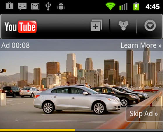 YouTube heralds arrival of in-stream ads, built-in annoyance for mobile devices