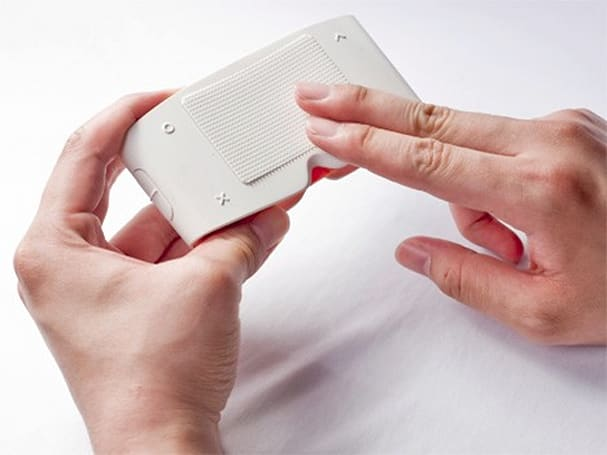 Touch Sight camera for the blind displays photos using Braille