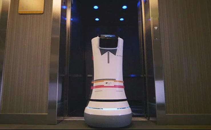 California hotel hires robot butlers to provide room service (video)
