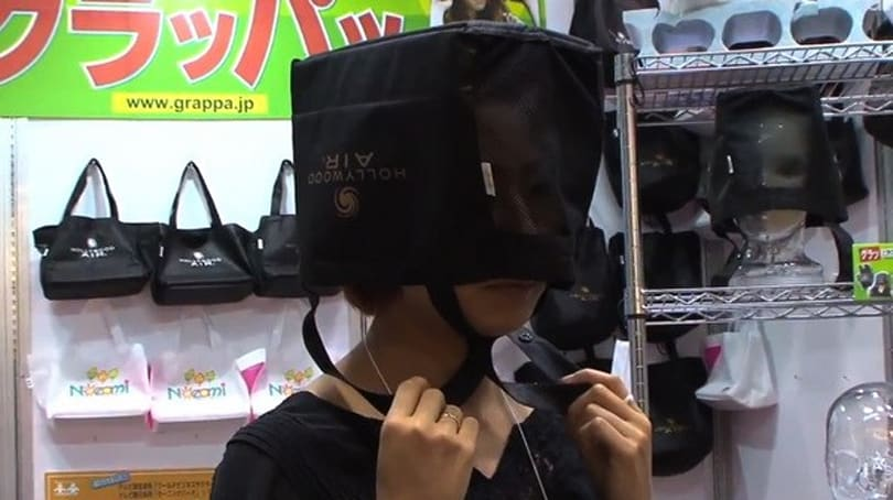 Visualized: Shopping bag crash helmet protects your head, not your image (video)