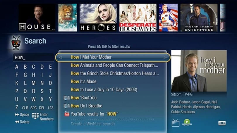 TiVo has a new Search