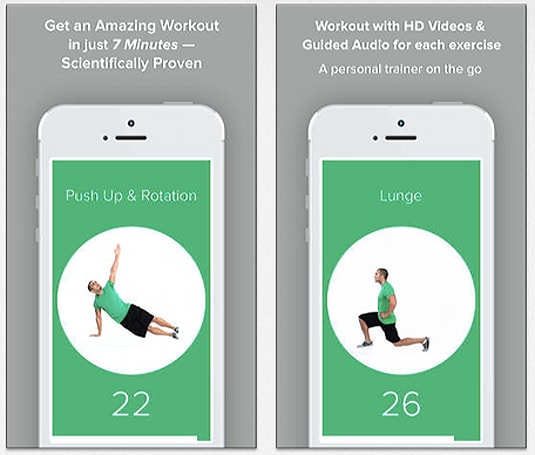 Quick Fit is a seven-minute workout app with room for expansion