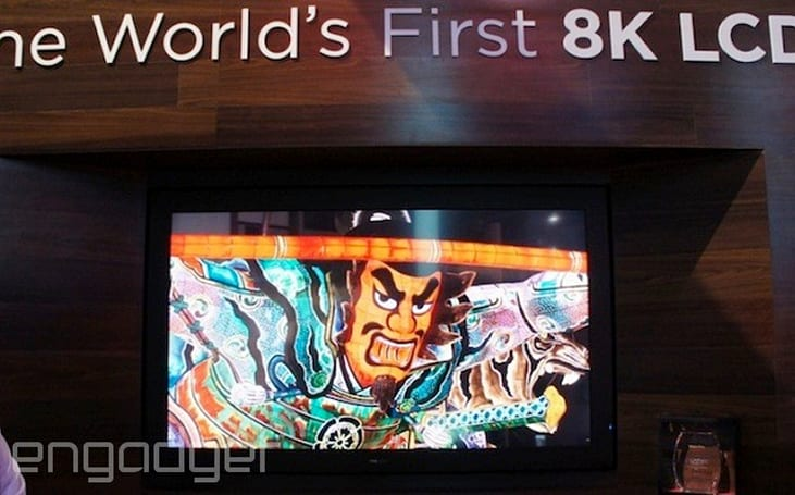 Sharp is teasing a 3D-ready, 85-inch 8K display at CES, no glasses required