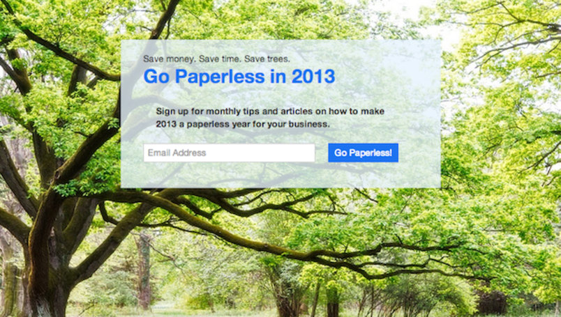 Google, HelloFax, Manilla, Fujitsu and others urge you to go paperless in 2013