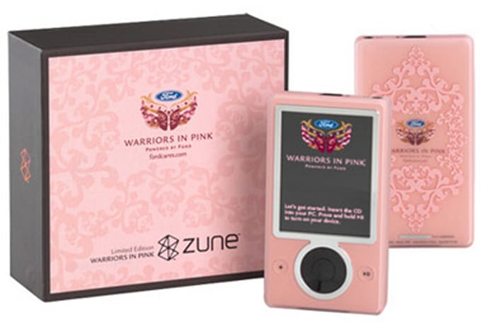 Ford sells pink 30GB first-gen Zune, donates 100% to breast cancer research