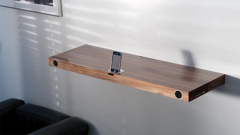 Finite Elemente's Hohrizontal 51 iPod / iPhone dock is its own shelf
