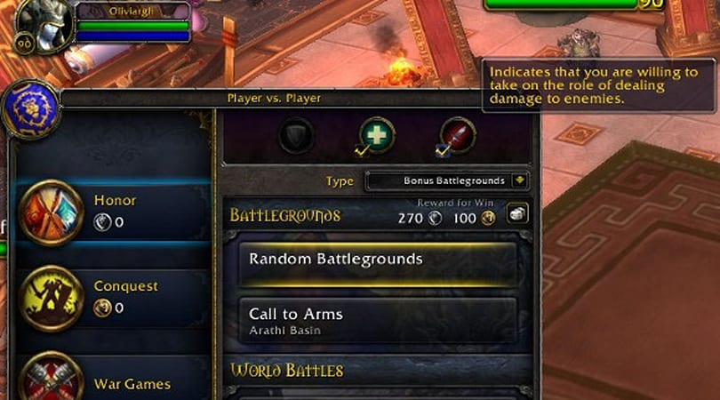 Patch 5.3 PTR: Role Check in Battleground queues