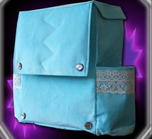 Real-life Mooncloth Bag (and Horde earrings)