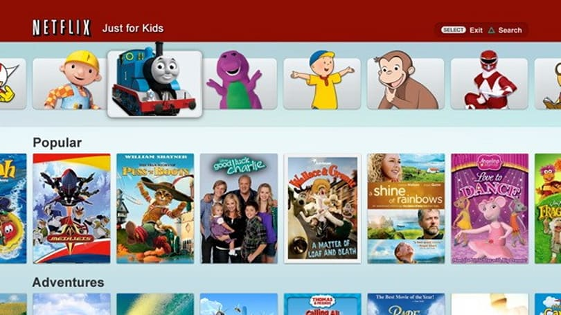 Netflix 'Just for Kids' comes to PS3 to enjoy some Thomas inbetween those MW3 marathons