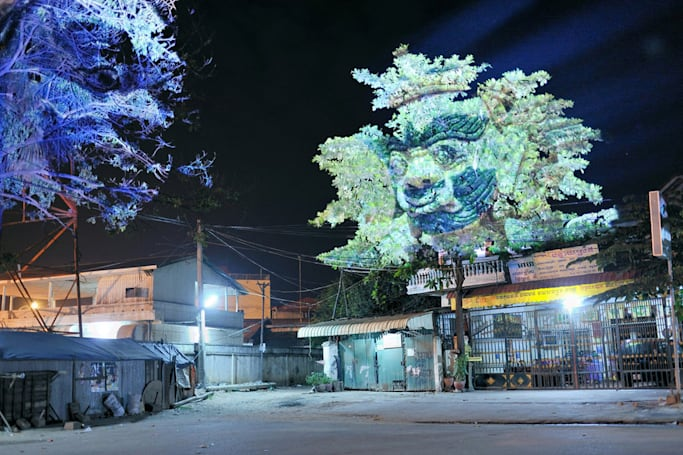 3D projections turn trees into divinities