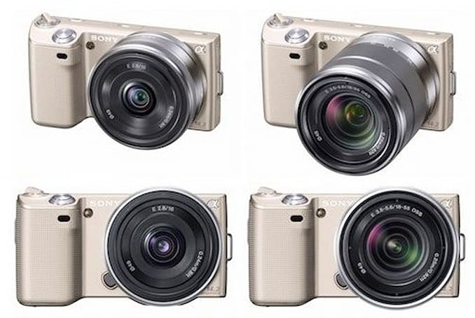 Sony's NEX-5, now available in gold!