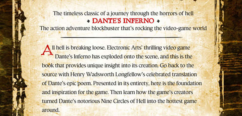 Dante's Inferno special edition printing provides 'unique insight' into game's creation