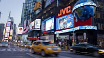 JVC turns on the first 720p billboard in Times Square